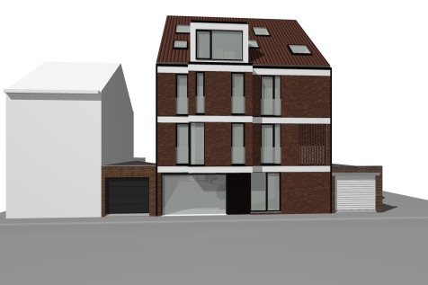 Rode Kruisstraat_Nieuwbouw appartementen voorzijde